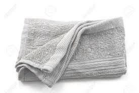 Crumpled Grey Cloth Rag Isolated On White Background