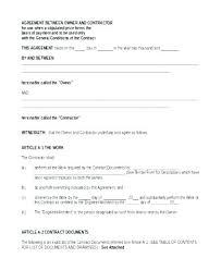 Template Contract Between Two Parties Automotoread Info