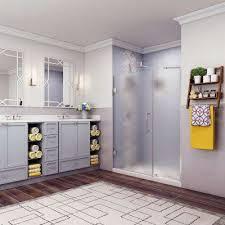 belmore 54 25 in to 55 25 in x 72 in frameless hinged shower door