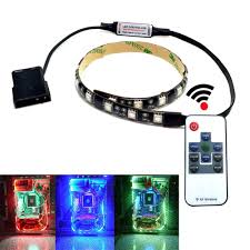 com autai rgb led light strip with remote control and magnetic for computer case computers accessories
