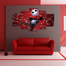 the nightmare before christmas modern canvas wall art  anjuna lane