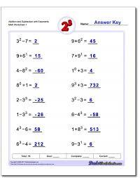 Adding Andbtracting Exponents Worksheets Worksheet 10 Math ...