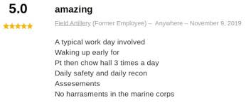 Marine Corps Pros And Cons Chart Marine Field Artillery Fire Control Man Mos 0844 2019