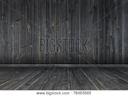 Dark wood wall and floor background texture Poster ID78463565