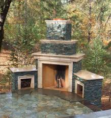 small outdoor fireplace plans
