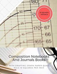 Composition Notebooks And Journals Books With Drafting Graph Paper Quad Rule 10 Squares Per Inch Graphing Notebook Journal Book College Ruled
