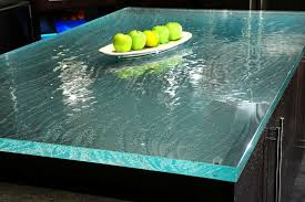 image of recycled glass countertop design