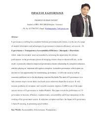 research e governance impact of e governance role of e governance