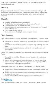 Trainer Resume Examples Resume