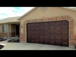 garage door wood lookDivine Door Designs utah Garage door Faux paint make metal door