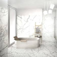 white porcelain tile floor. Porcelain Gloss Tile Image Carrara Ceramic Marble Look Floor Elemental .  White Subway