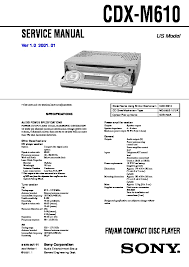 sony car audio service manuals page 34 Sony M610 Wiring Diagram cdx m610 service manual sony cdx-m610 wiring diagram