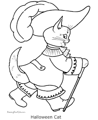 Small Picture Printable Halloween cat coloring page 012