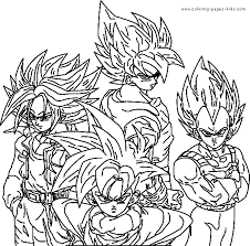 Small Picture Dragon Ball Z color page Coloring pages for kids Cartoon