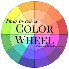 A full tutorial on how to use a color wheel with pictures of the color  schemes