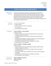 resume flight attendant resume samples