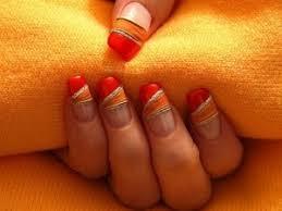 Jasně Oranžová Bunda Oranžová Manikúra Pro Náladu