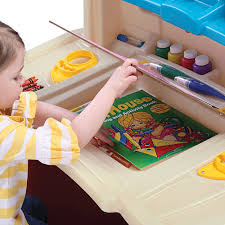 roll over image to zoom larger image step2 deluxe art master desk step 2 toys r us