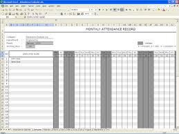 Absentee Calendar Excel Calendar Template 2019