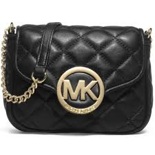 Michael Kors Small Fulton Quilted Crossbody BLACK - Handbags Choice & Michael Kors Small Fulton Quilted Crossbody BLACK Adamdwight.com