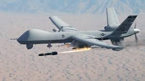 An MQ-9 Reaper drone operated by the US military fires a Hellfire missile. Being there so you don't have to. | Military drone, Drone, Unmanned aerial vehicle