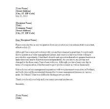 Example Resignation Letter Resignation Letter Template