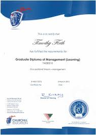 firth tim graduate diploma of management learning advanced diploma of  firth tim graduate diploma of management learning advanced