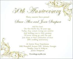 Anniversary Announcement Template 50th Wedding Wording For