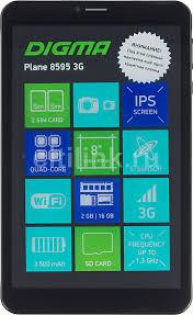 Купить <b>Планшет DIGMA Plane</b> 8595 3G, 2GB, 16GB черный в ...
