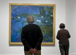 hypnotic shifting plays of color and light are reflected in monet s nine paintings on view at the wadsworth atheneum including water lilies 1914 15