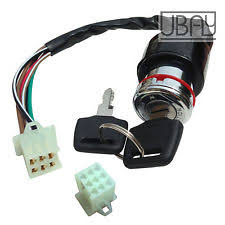 kazuma 110 parts accessories 6 wire ignition key switch for kazuma falcon roketa atv 50cc 70cc 90cc 110 125cc