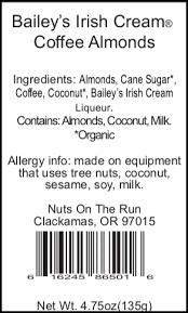 bailey s irish cream coffee almonds cone