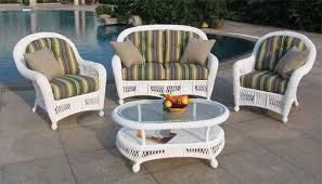 outdoor white wicker furniture nice. St Lucia 4 Piece Outdoor Seating Set White Wicker Furniture Nice