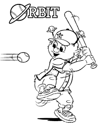 Small Picture Orbit the Mascot in MLB Coloring Page Color Luna