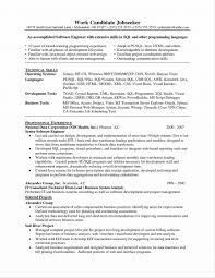 Resume Software Skills Resume Templates Embedded Software Developer Examples Samples For 60