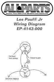 les paul jr wiring wiring diagram meta allparts electric guitar wiring kit for gibson les paul jr raru les paul junior wiring kit