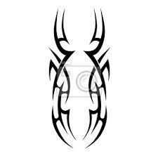 Fototapeta Tattoo Tribal Vector Designs Skicovaný Jednoduchý Izolovaný