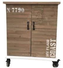 Casa Padrino Country Style Bar Cabinet Brown White Black