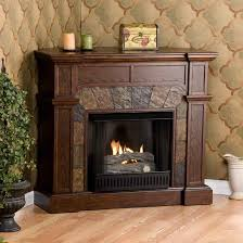 fireplace with real flame gel fuel antique white mantels fronts a gas u interior the corner