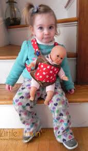 Baby Doll Carrier Pattern Custom Decoration