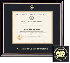 diploma frames jacksonville state university bookstore framing success diploma frame black gold mat in a satin black finish beautiful