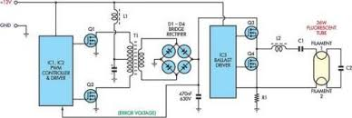 12v flourescent lamp inverter circuit wiring diagrams the