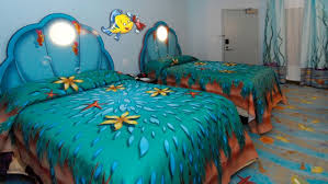 Captivating ... Disney Art Of Animation Little Mermaid Rooms Offer Two DOUBLE Beds With  Clam Headboards That Will ...