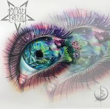 реалистичный глаз с космосом эскиз для тату на спине либо