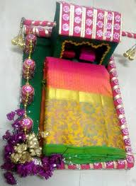 Saree Tray Decoration Impressive Saree Tray Decoration Custom Pinasha Latha On Saree Packing