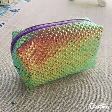 hologram small cosmetic bag never used