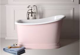 freestanding tub pink pastel shabby chic bath baby pink the