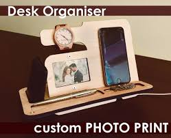 Office gifts for dad Desk Image Etsy Grandfather Giftunique Gift Dadwooden Phone Docksimple Etsy