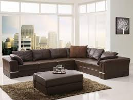 Leather Couch Living Room Furniture Stockhold Brown Leather Corner Couch For Astounding