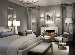 view in gallery donghia floor lamp along with table lamp and a lovely chandelier illuminate this exquisite contemporary bedroom
